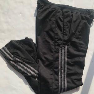 Adidas size large straight leg track pants grey